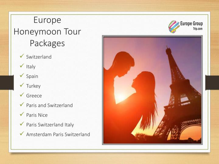 Europe Honeymoon Tour Packages