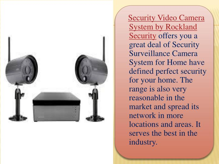 Security Video Camera System by Rockland Security