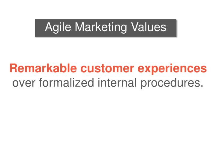 Agile Marketing Values