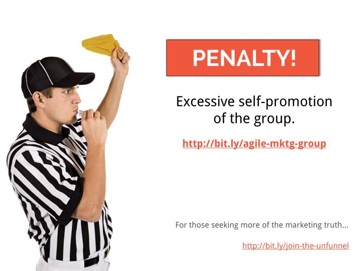 Excessive self-promotion
