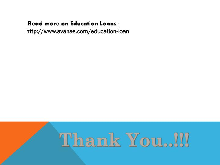Read more on Education Loans :