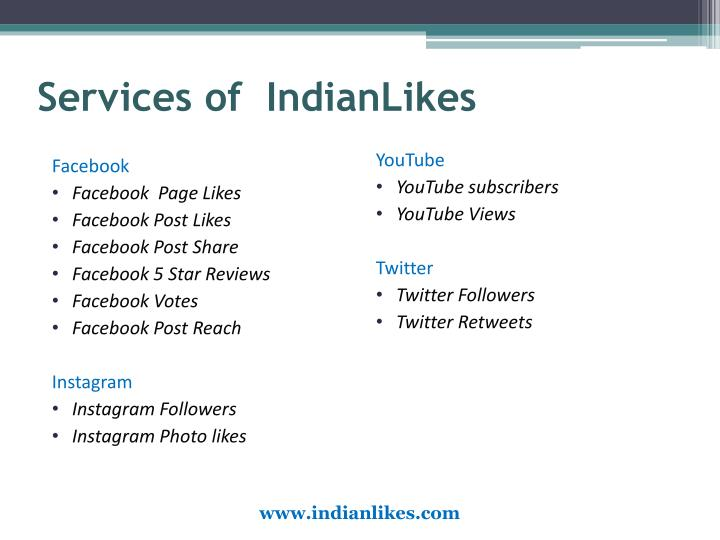 Services of  IndianLikes