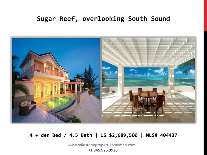 Sugar Reef, overlooking South Sound