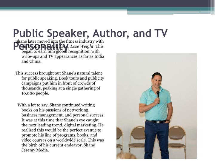 Public Speaker, Author, and TV Personality
