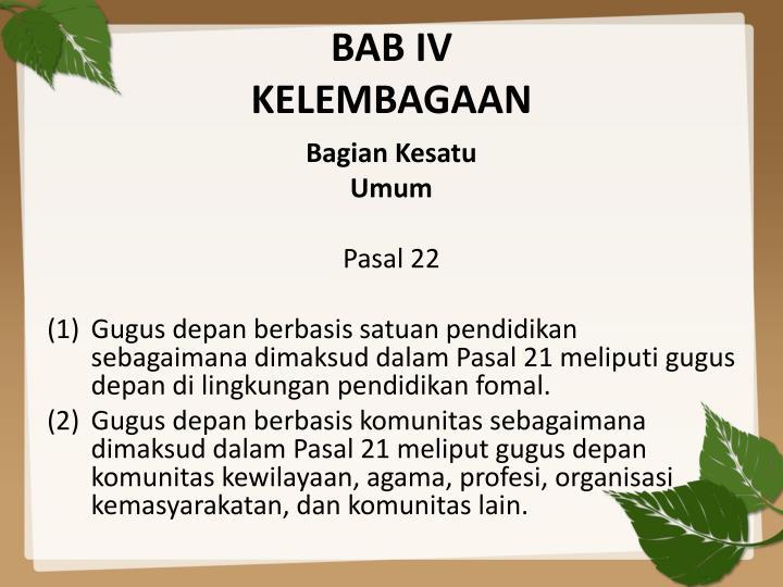 BAB IV