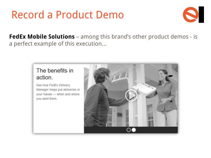 Record a Product Demo