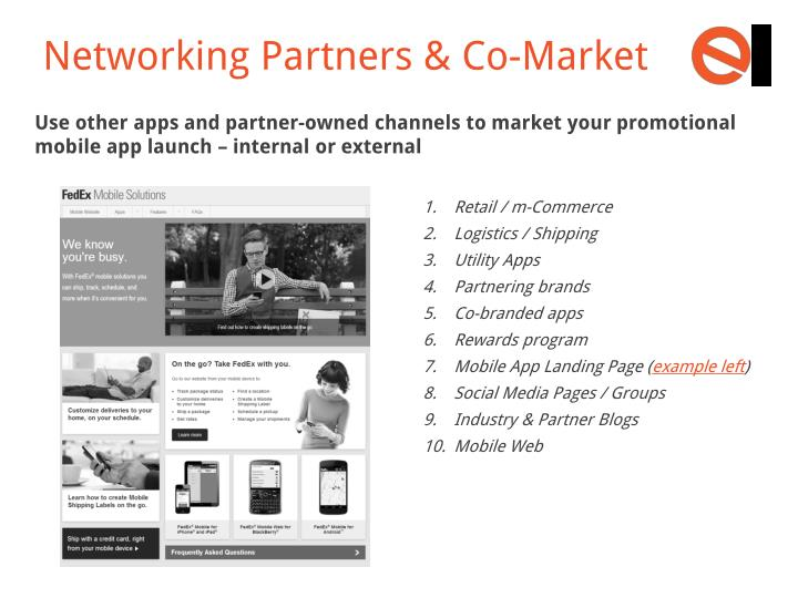 Networking Partners & Co-Market