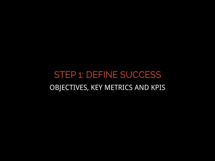 OBJECTIVES, KEY METRICS AND KPIS