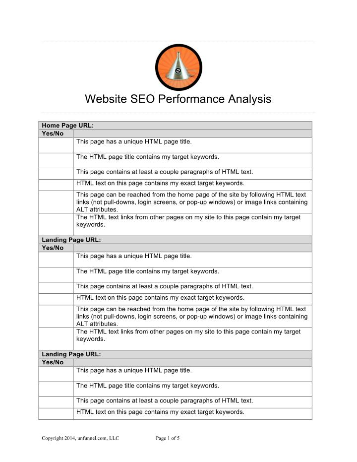 Website SEO Performance Analysis