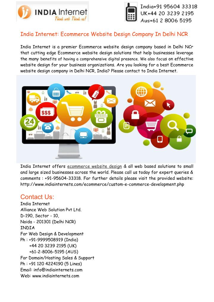 India Internet: Ecommerce Website Design Company In Delhi NCR