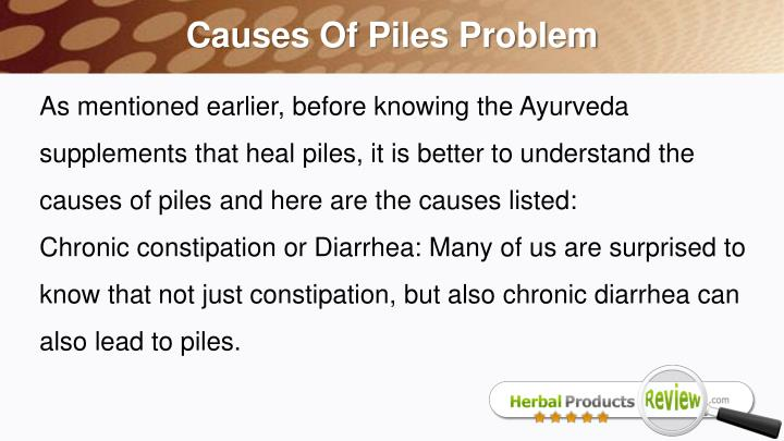 Causes Of Piles Problem