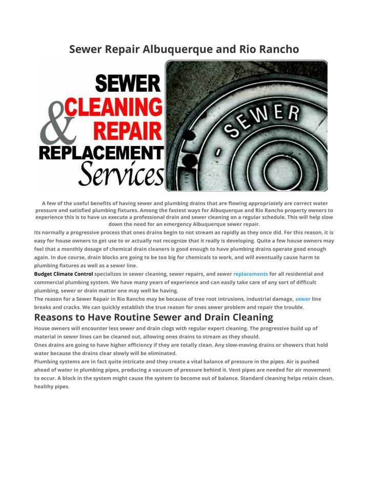 Sewer Repair Albuquerque and Rio Rancho
