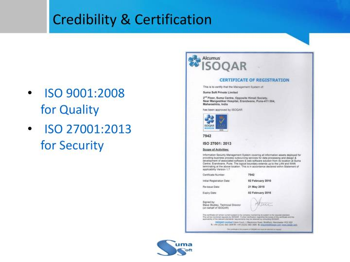 Credibility & Certification