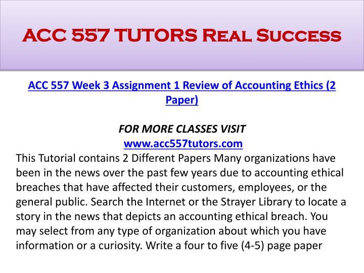 Strayer accounting
