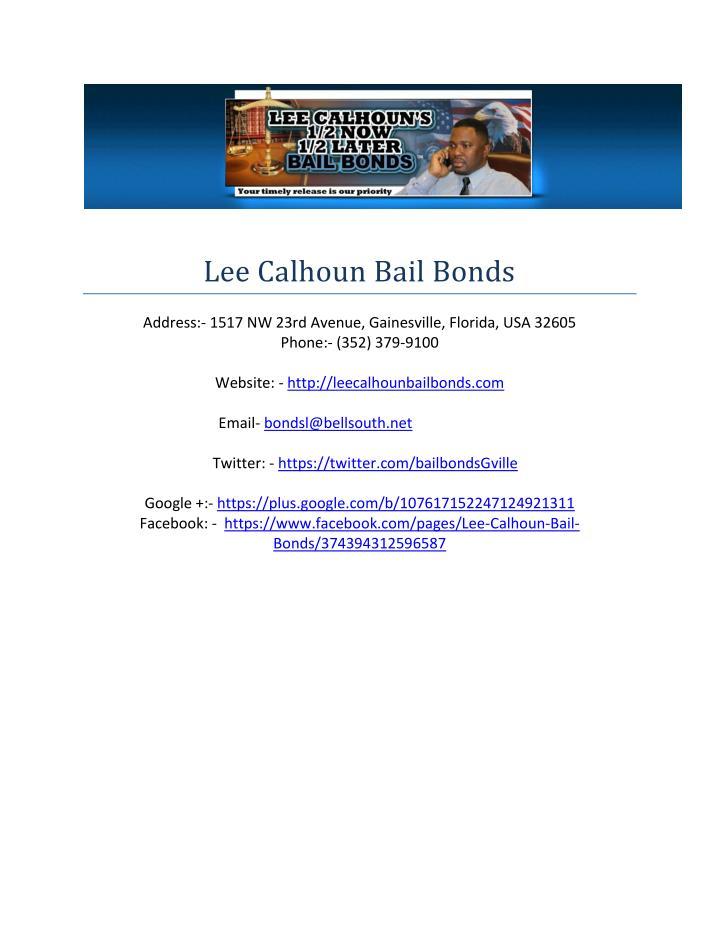 Lee Calhoun Bail Bonds
