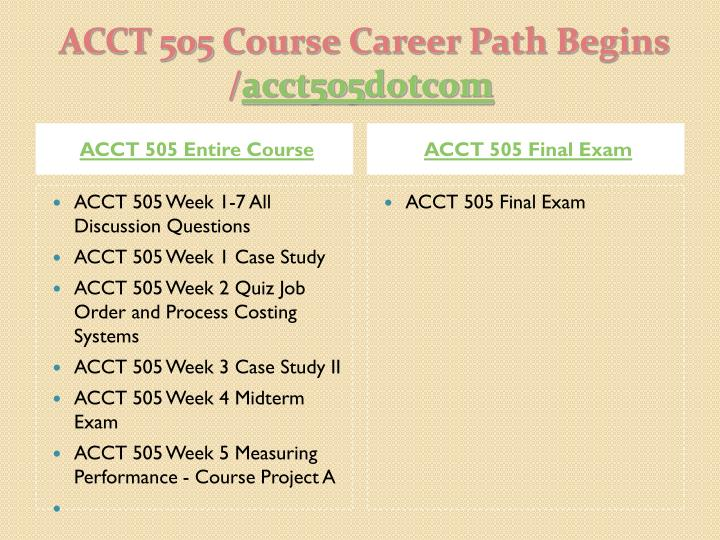 Acct 505 course career path begins acct505 dotcom1