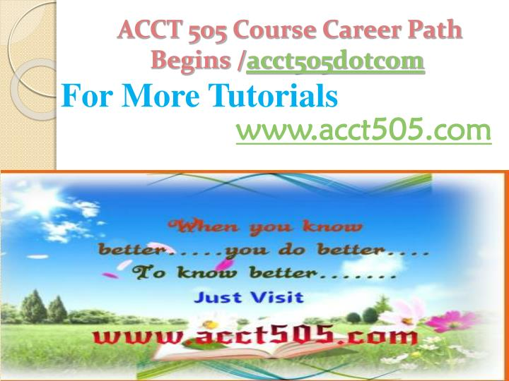 ACCT 505