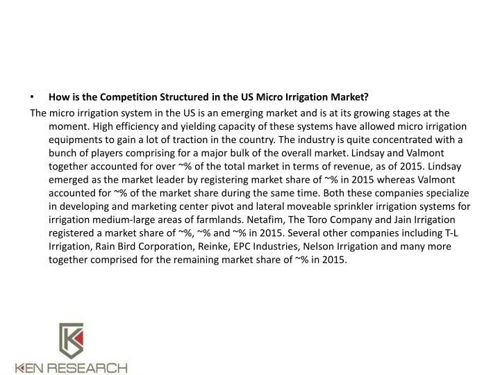 How is the Competition Structured in the US Micro Irrigation Market