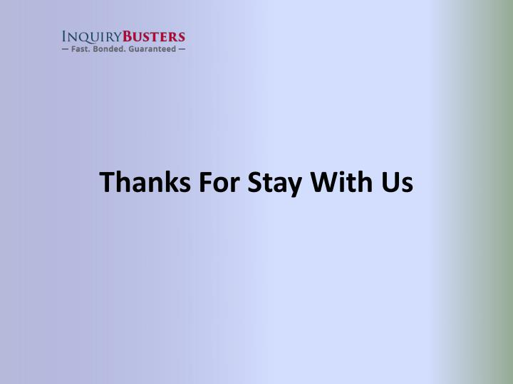 Thanks For Stay With Us