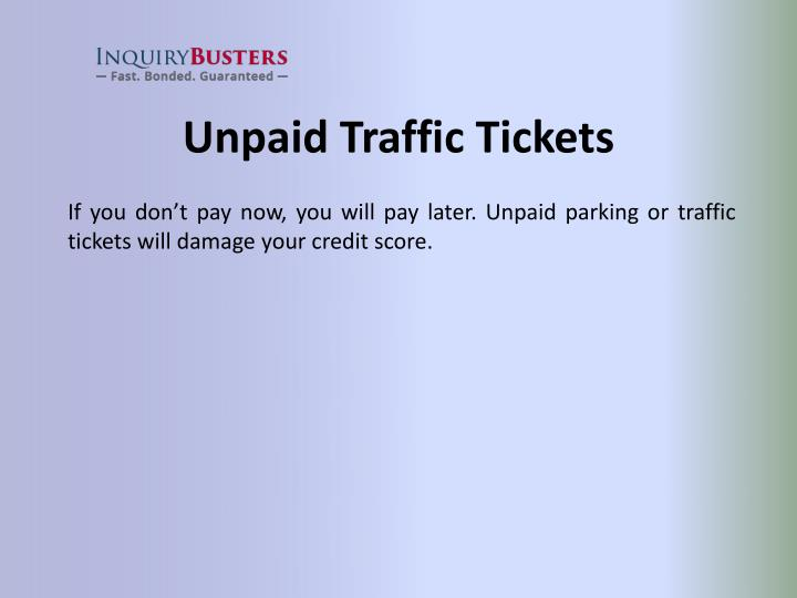 Unpaid Traffic Tickets