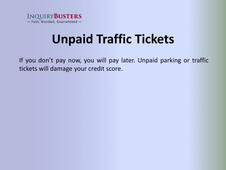 Unpaid Traffic Tickets