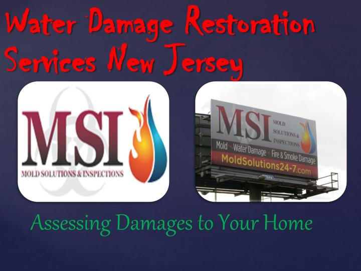 Water damage restoration services new jersey