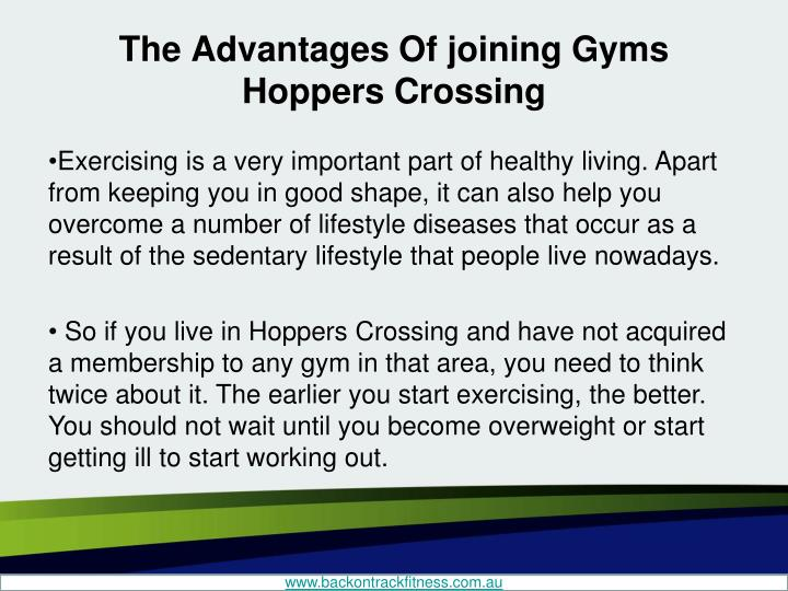 The Advantages Of joining Gyms Hoppers Crossing