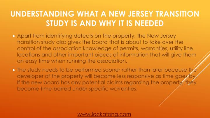 Understanding what a new jersey transition study is and why it is needed2