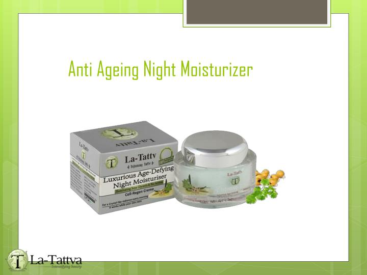 Anti Ageing Night Moisturizer