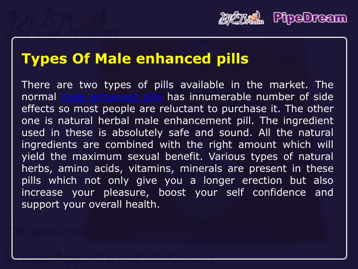 Types Of Male enhanced