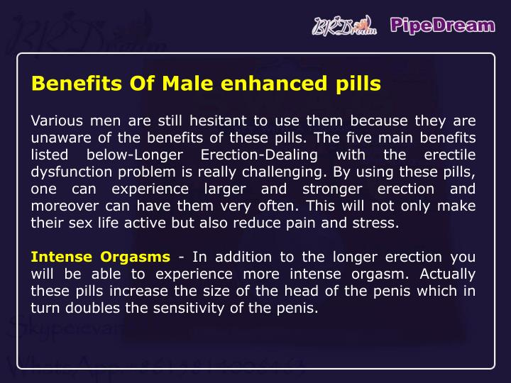 Benefits Of Male enhanced