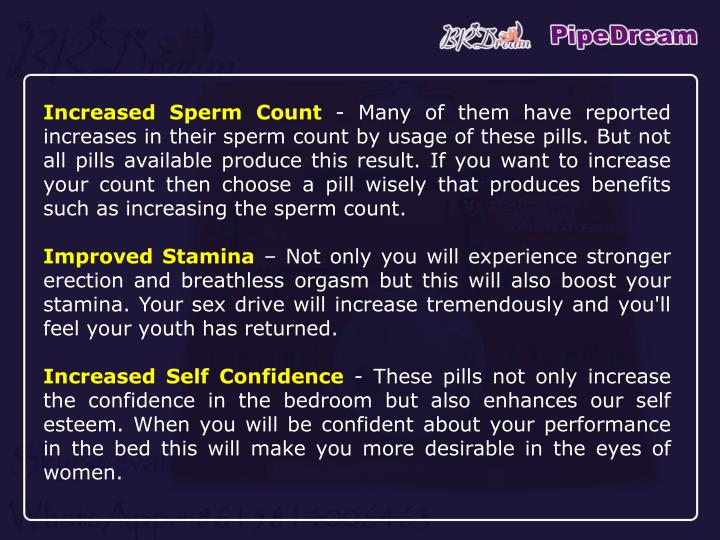 Increased Sperm