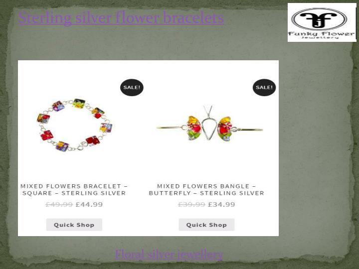 Sterling silver flower bracelets