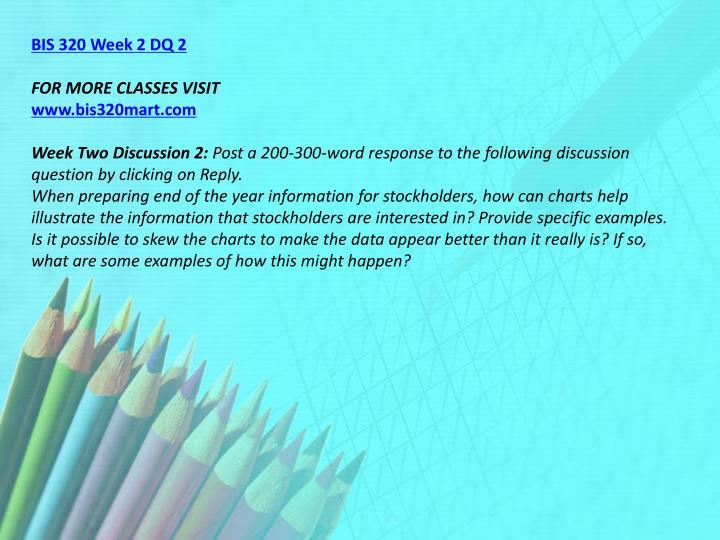 BIS 320 Week 2 DQ 2