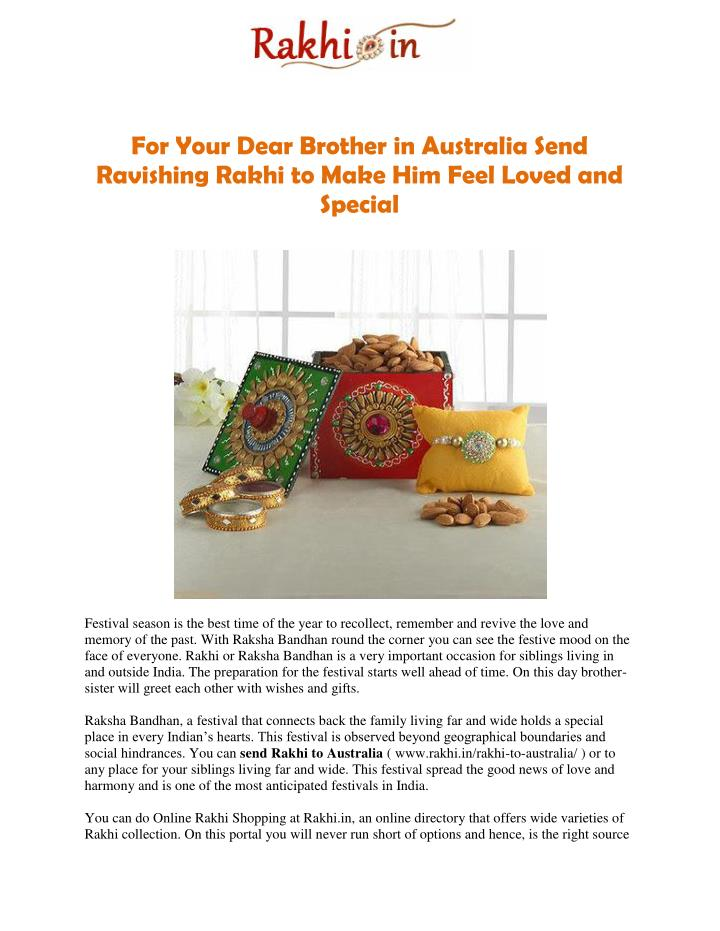 For Your Dear Brother in Australia Send