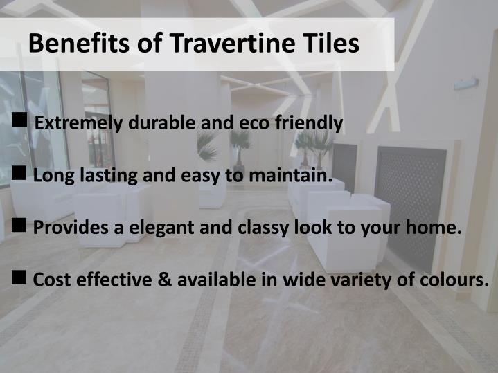 Benefits of Travertine Tiles