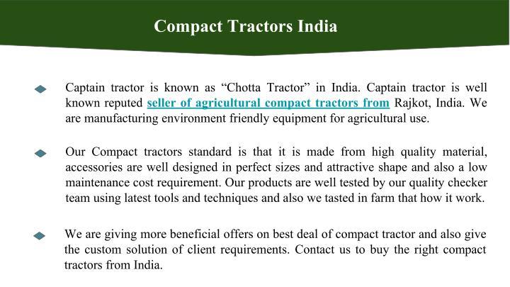 Compact Tractors India