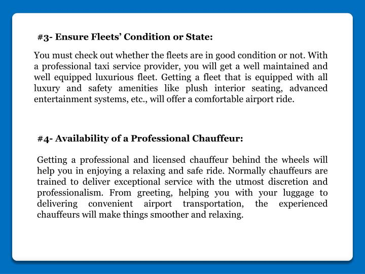 #3- Ensure Fleets' Condition or State: