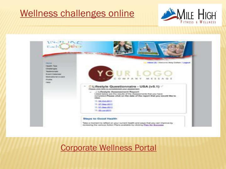 Wellness challenges online