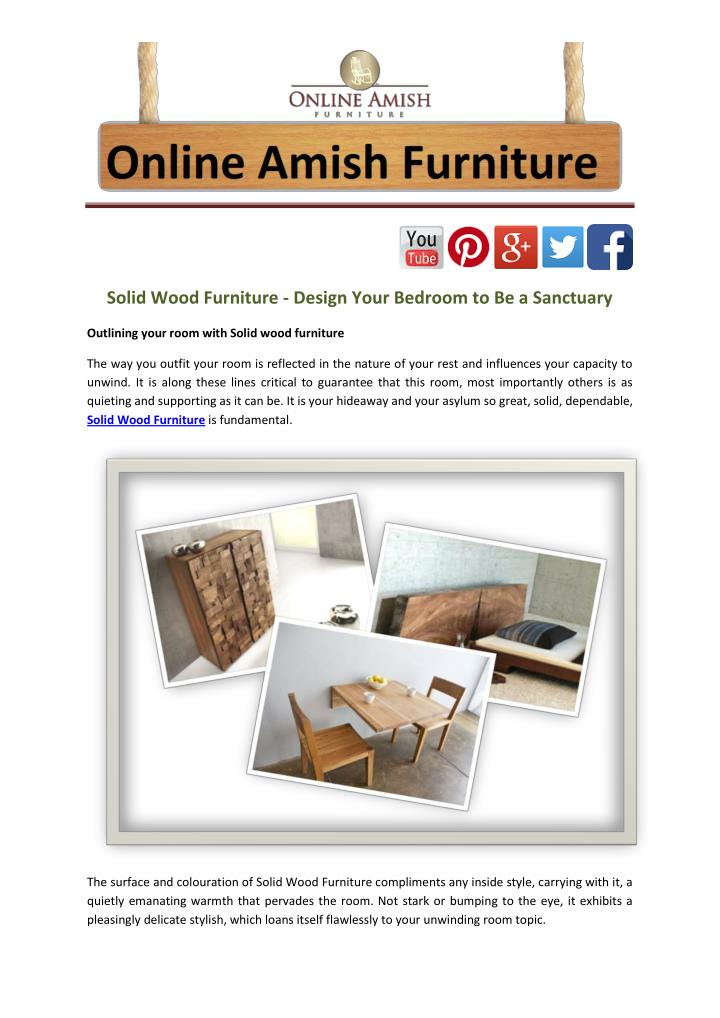 Solid Wood Furniture - Design Your Bedroom to Be a Sanctuary