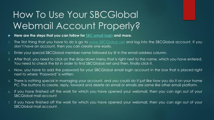 How To Use Your SBCGlobal Webmail Account Properly?
