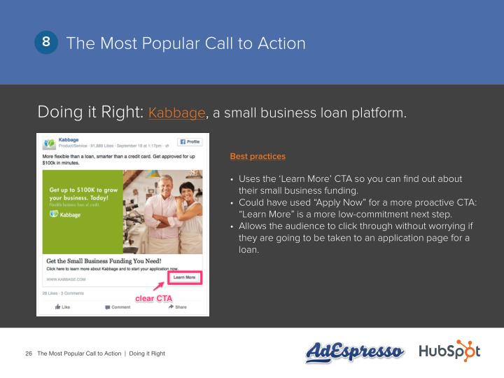 The Most Popular Call to Action