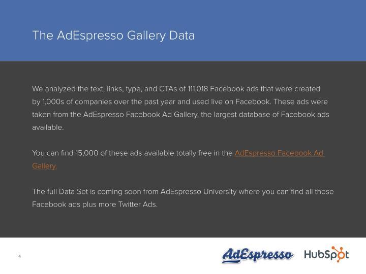 The AdEspresso Gallery Data
