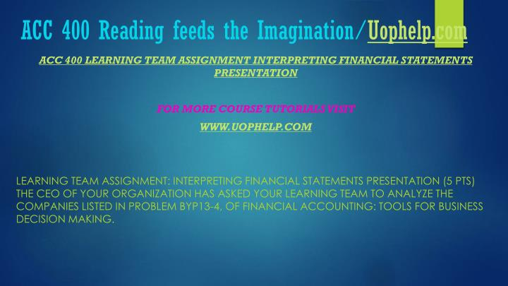Acc 400 reading feeds the imagination uophelp com2