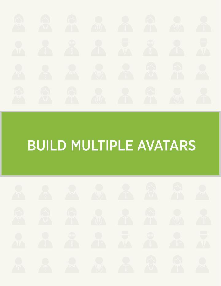 BUILD MULTIPLE AVATARS