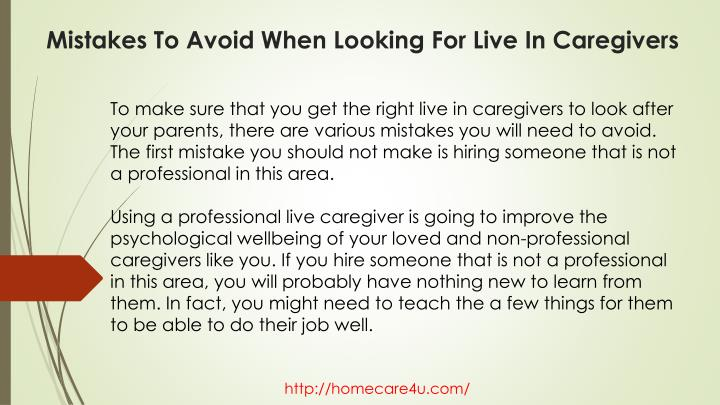 Mistakes to avoid when looking for live in caregivers2