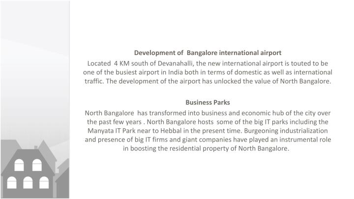 Development of  Bangalore international airport