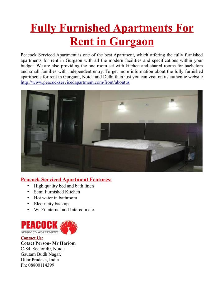 Fully Furnished Apartments For