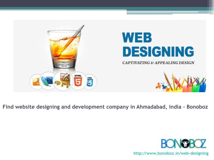 Find website designing and development company in ahmadabad india bonoboz