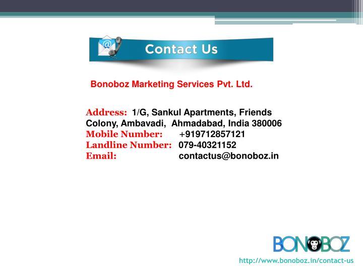 Bonoboz Marketing Services Pvt. Ltd.